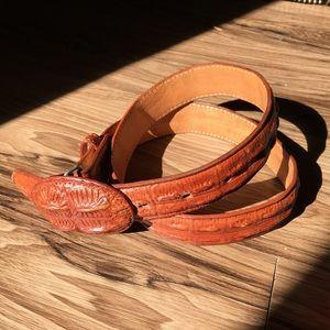 Vintage Faux Alligator Belt, Size 30, Western Mens